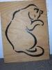 Katze, 2 x 6 mm Buchensperrholz